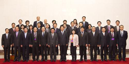 贾庆林会见台湾工会界代表--中国国情